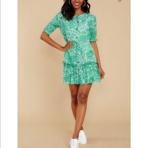 Fairy Garden Kelly Green Floral Print Dress